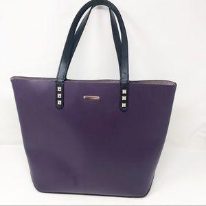 Rebecca Minkoff purple studded leather tote bag